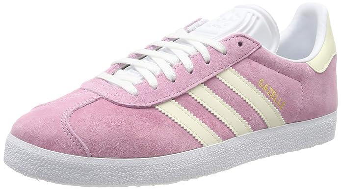 adidas Damen Gazelle Sneaker Rosa (True Rosa) mit weißen Streifen