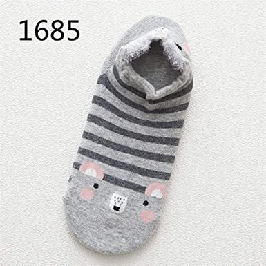 Cute Animal Cotton Socks Female Kawaii Cat With Dog Summer Short Socks,1685