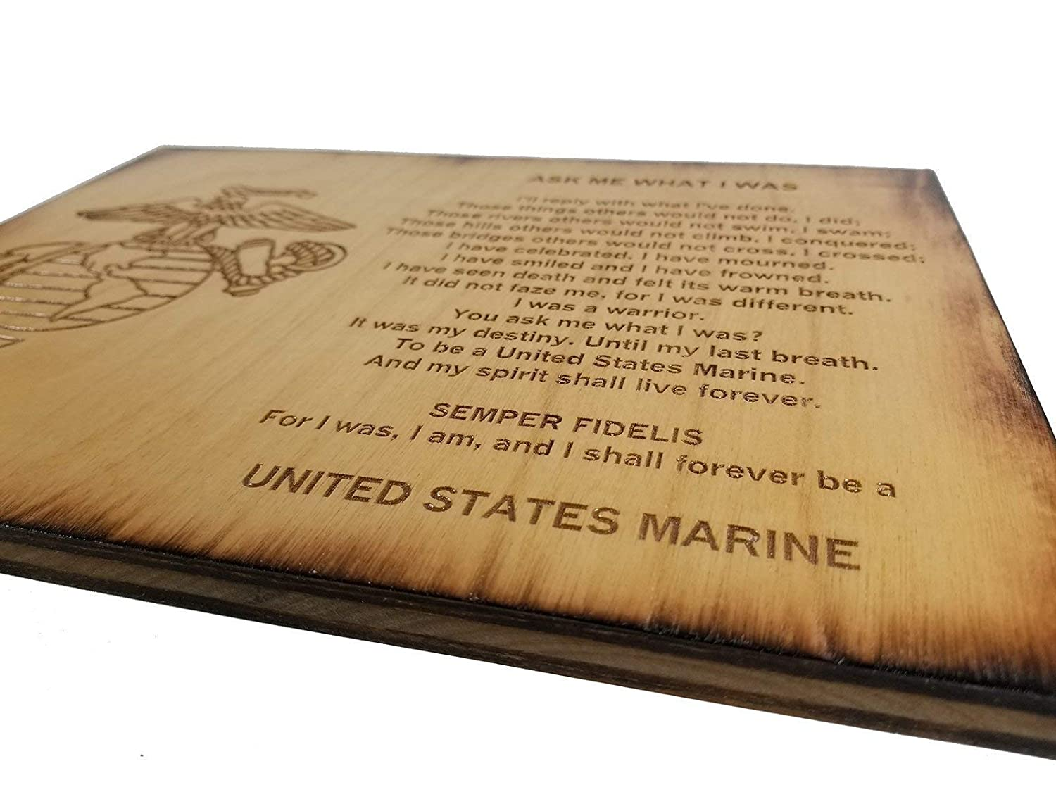 USMC Retirement Gift Ask Me What I Was 8.5 x 11.5 Marine Corps Sign