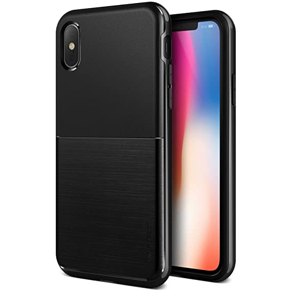 outlet store 13b24 a7723 VRS DESIGN iPhone Xs Case, Dual Layer Protective Phone Case [Black] Premium  Shockproof TPU Silicon Heavy Duty PC Bumper Cover for Apple iPhone Xs/X ...