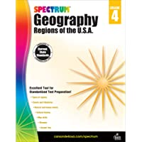 Spectrum Grade 4 Geography Workbook—4th Grade State Standards for Cultural History, Regions, Map Reading Skills With…
