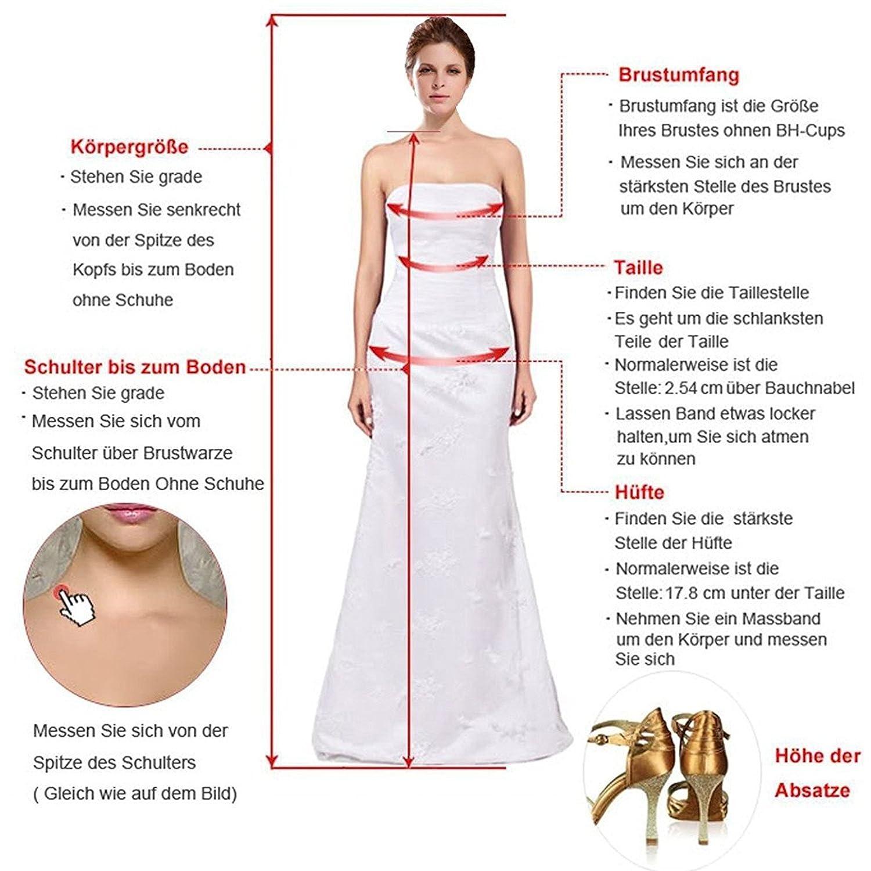 Cloverbridal Kappenhülse Brautkleider Spitze Hochzeitskleider für ...