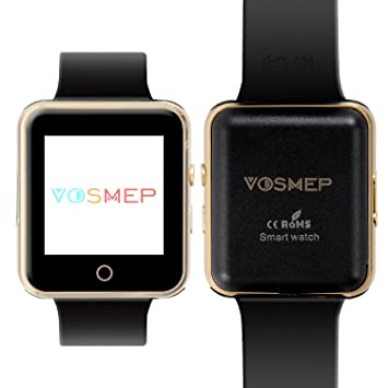 VOSMEP Reloj Inteligente Deportivos Smart Watch soporte Facebook Twitter 3.0 Teléfono Inteligente Pulsera 1.54 Pantalla Táctil