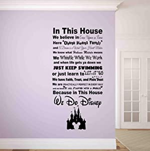 Best Design Amazing in This House We do Disney Wall Decal-Disney Wall Signs-Disney Wall Quotes-Disney Quotes-Wall Vinyl Decal-Wall Decor-Wall Art-Wall Words Made in USA!