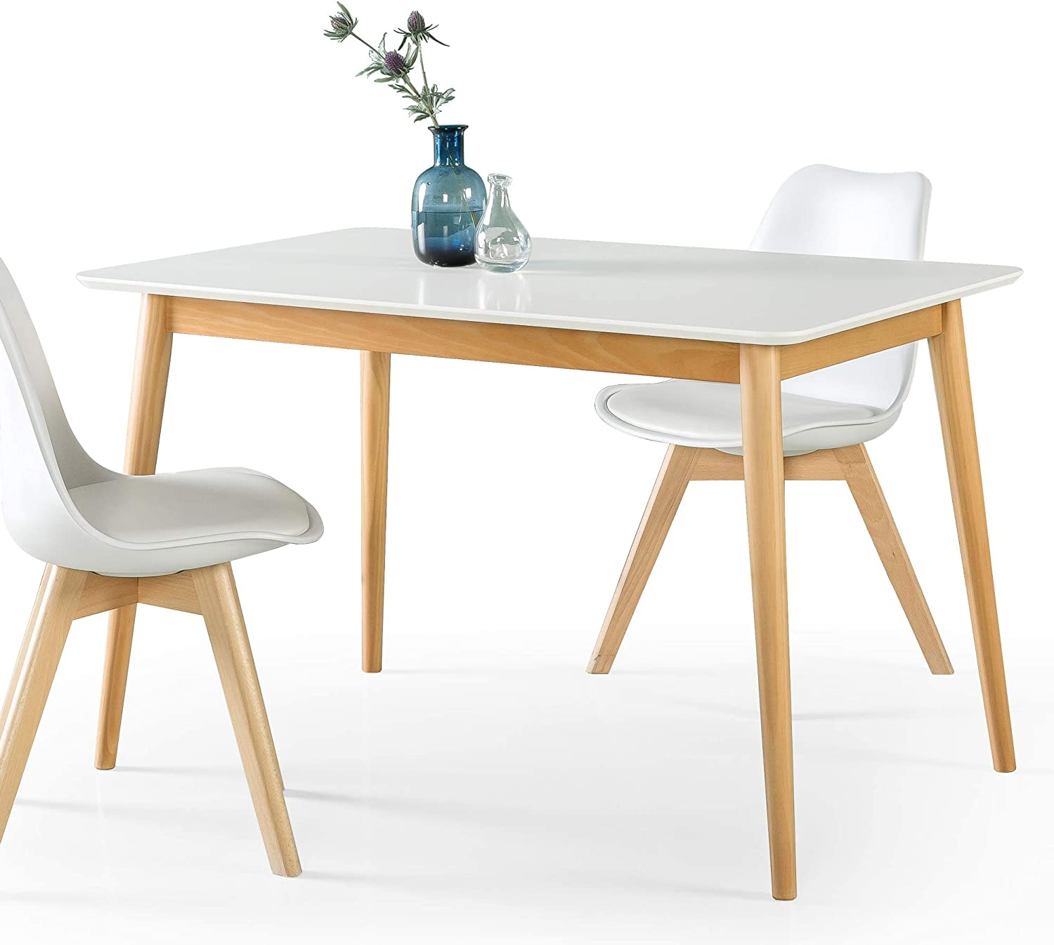 ZINUS Jen 47 Inch Wood Dining Table / Kitchen Table / Easy Assembly, White