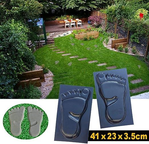 YLYP Molde de pavimento de jardín con Huella, Molde de concreto de pavimento DIY Pavimentación Manual Cemento de mampostería Camino Molde de concreto Moldes de compañero de Camino: Amazon.es: Hogar