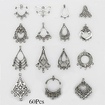 Amazon lollibeads tm antiqued tibetan silver earring lollibeads tm antiqued tibetan silver earring chandelier earring jewelry making kit for earring drop aloadofball Choice Image