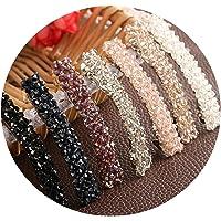 1Pcs Bling Crystal Hairpins Headwear Forwomen Rhinestone Hair Clips Pins Barrette Accessories