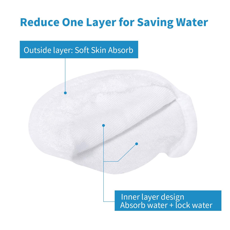 Tampons Démaquillants Lavable 18PCS - Disques Coton Démaquillant Réutilisable Biologique,Microfibre Super Doux Absorption Lavage Chiffon Tampons avec 1 Sac à Linge Gratuit