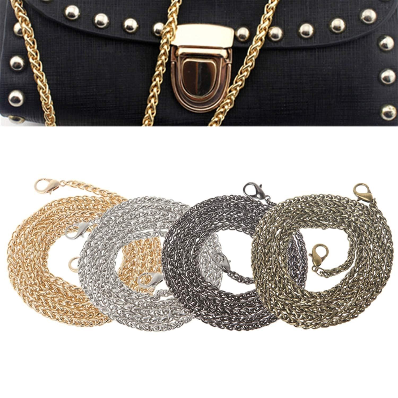Yulongo Metal 120Cm Replacement Purse Chain Strap Handle Shoulder Crossbody Handbags Accessories,Bz,Onesize