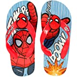 Ciabatte Infradito Bambino Spiderman Fumetto Marvel Avengers con Maschera in Rilievo e Fascia Elastica