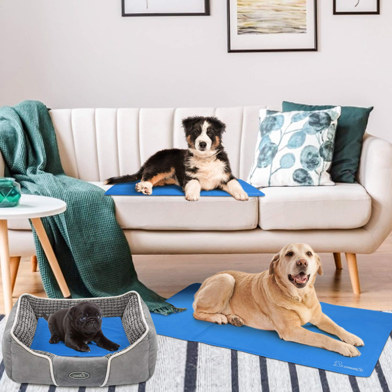 Pecute Kühlmatte Hunde Katzen Haustiere,selbstkühlende Matte,Kaltgelpad für Katzen und Hunde, Kühlmatte Tiere, Kühlkissen, Kühl Hundedecke M(65 * 50cm)