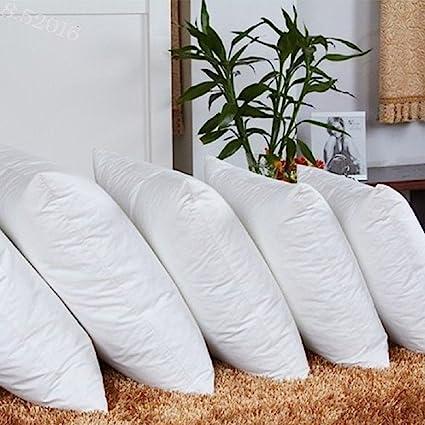 JDX Reliance Fiber Filler Cushion, 16X16 Inch, White -Set of 5