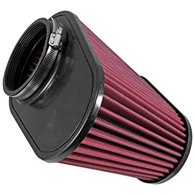 Airaid 721-128 Universal Clamp-On Air Filter: Oval Tapered; 4.5 Inch (114 mm) Flange ID; 7.375 Inch (187 mm) Height; 11.5 x 7 Inch (292 mm x 178 mm) Base; 9 x 4.5 Inch (229 mm x114 mm) Top: Automotive