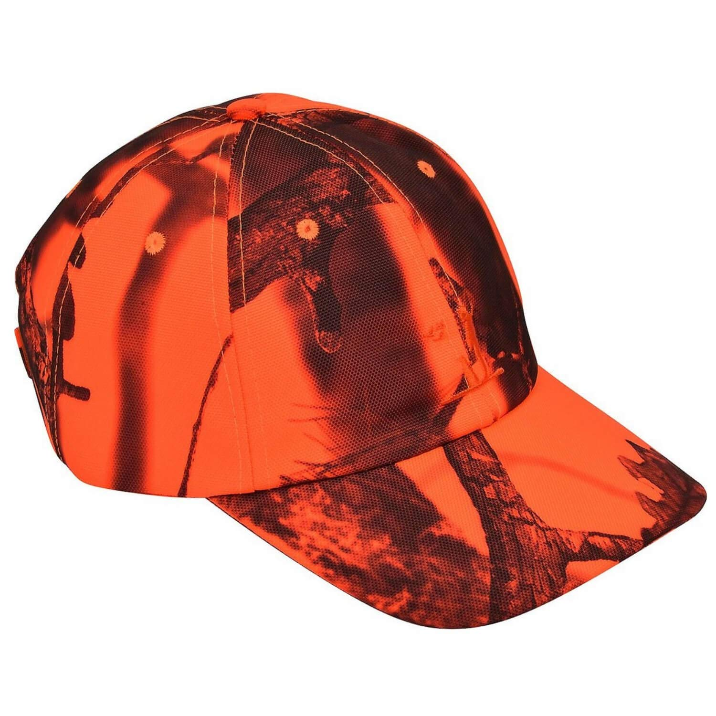 Percussion Jagd Cap Ghostcamo Jagdkappe Blaze//Orange Treibjagd Dr/ückjagd