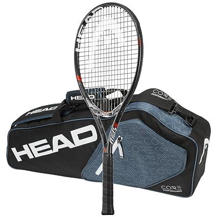 Amazon.com   Head MxG 5 Tennis Racquet - STRUNG with 3 Racquet Bag ... 40c76055ec