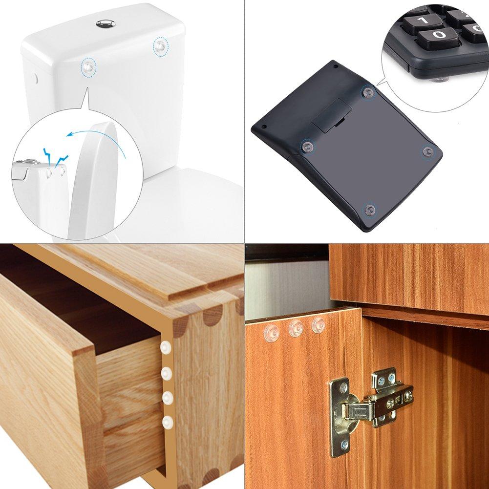 m/émoire tampon de adh/ésif Coussinets R/éduction du bruit pour portes Armoires tiroirs 3/tailles Shintop 150/pi/èces meubles Bumpers clair