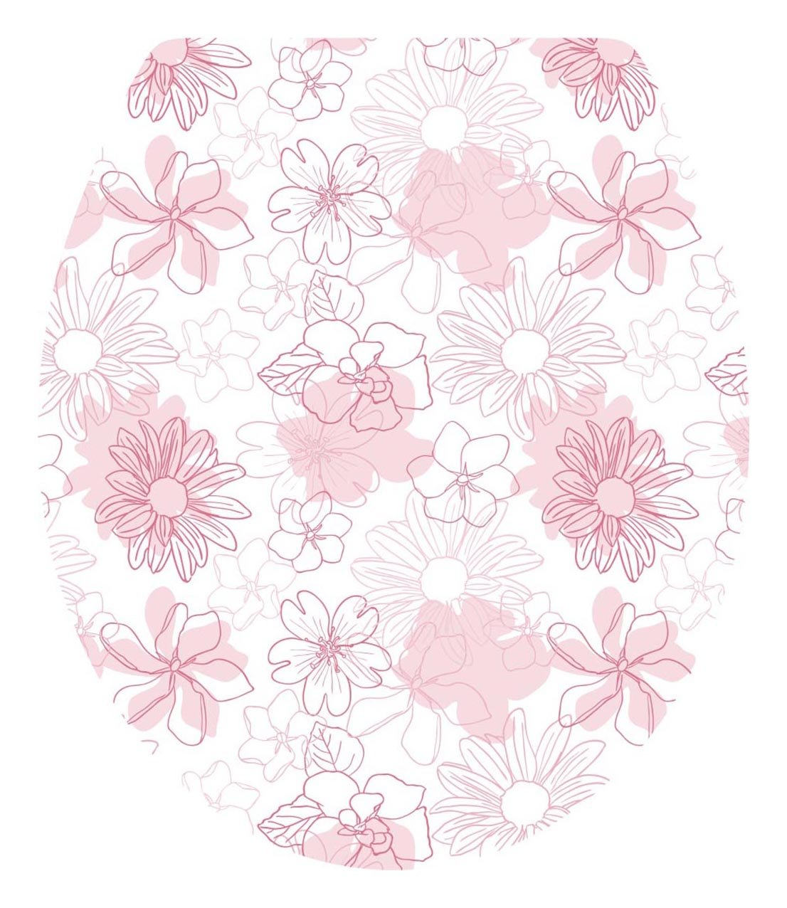 DNVEN 13 inches x 15 inches Pink Bloosm Floral Flowers Bathroom Toilet Seat Lid Cover Decals Stickers