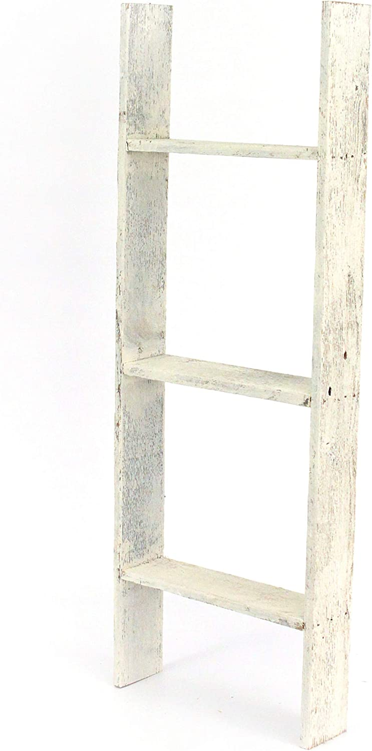BarnwoodUSA Rustic Farmhouse Blanket Ladder Our 5 ft Ladder can be Mounted Horizontally or Vertically and is Crafted from 100/% Recycled and Reclaimed Wood Black No Assembly Required