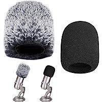 TANCUDER 2PCS Protectores de Micrófono Cubierta para Micrófono Funda de Espuma de Micrófono Peludo de Micrófono…