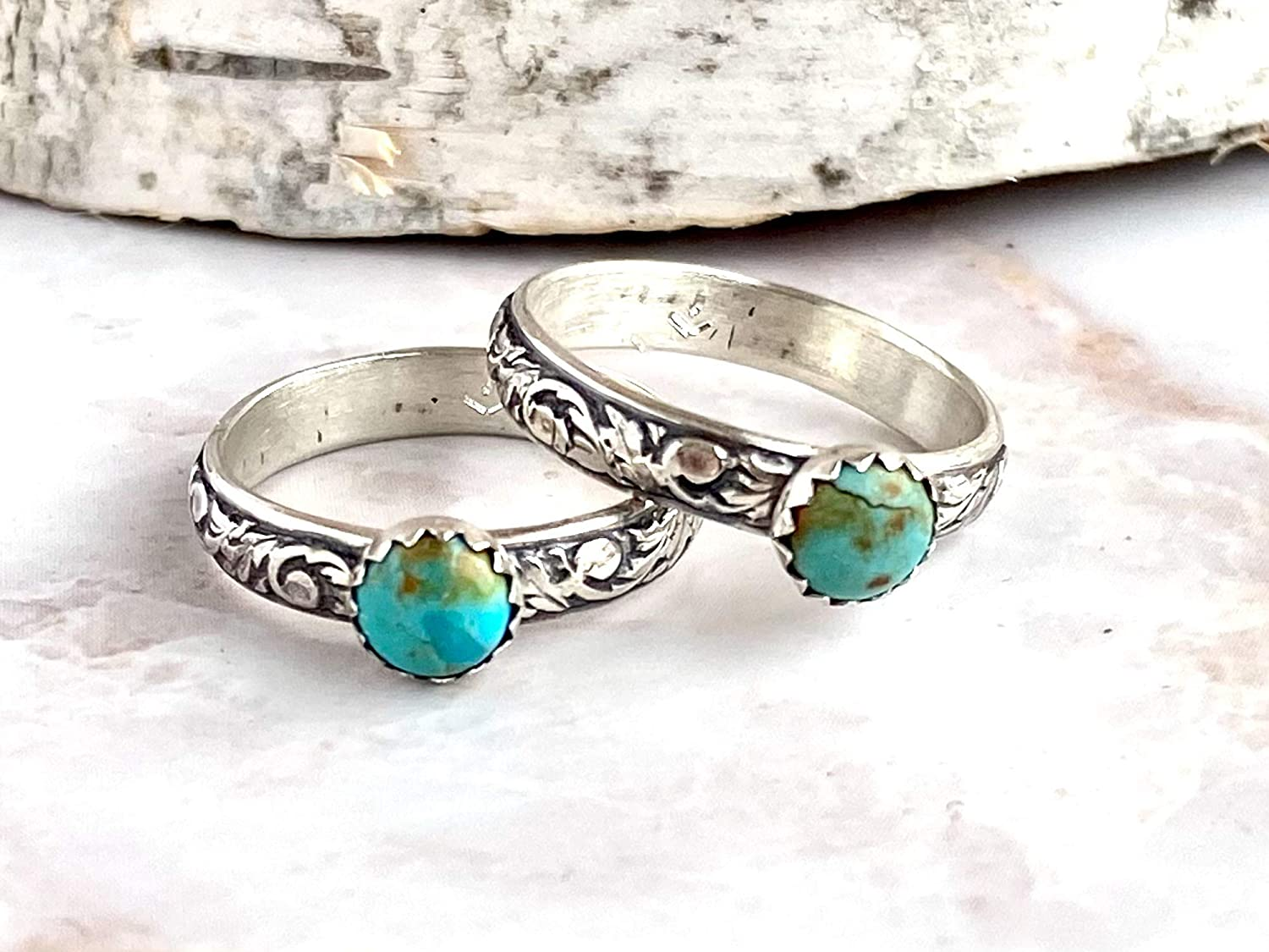 Turquoise Stacking Ring 925 Sterling Silver Ring Silver Handmade Jewelry 0142