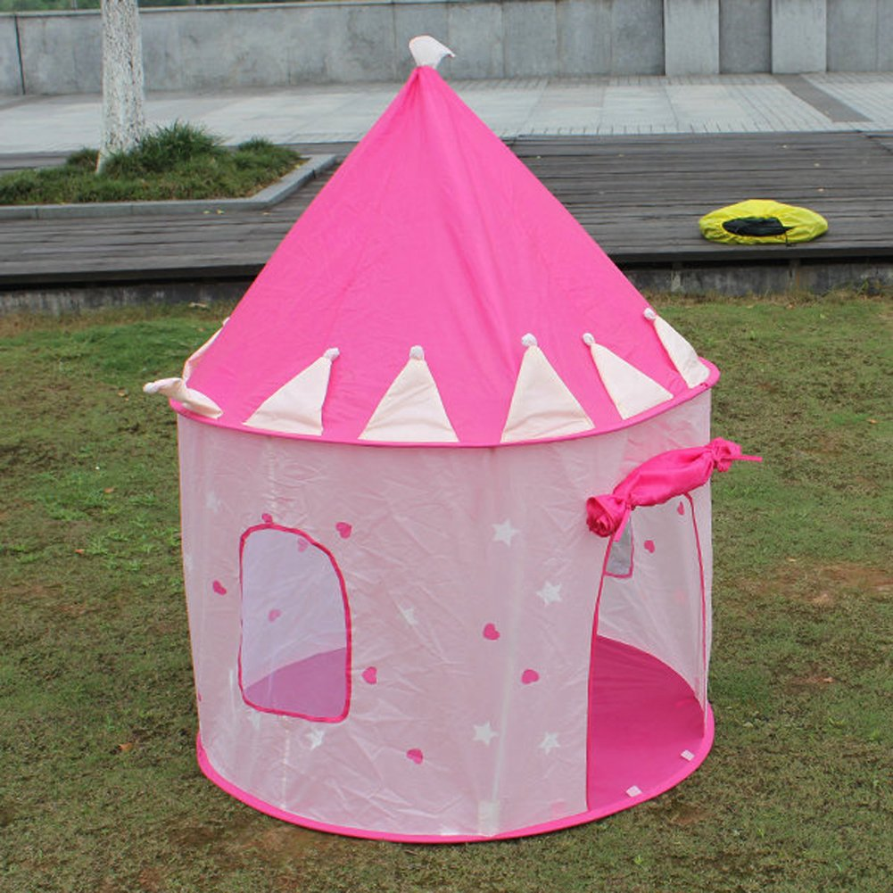 Tent For Kids Part - 48: Buy Rrimin Portable Pink Pop Up Play Tent Kids Girl Princess Castle Outdoor  House Online At Low Prices In India - Amazon.in