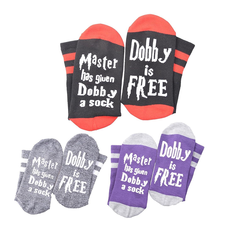 Master Has Given Dobby a Sock Dobby is Free Socks Novelty Funny Crew Cotton socks Gift