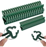 Monstake 40PCS Plant Support Clips for Gardening, Gentle Plant and Flower Clamps, Perfect Supporting Climbing Vines…