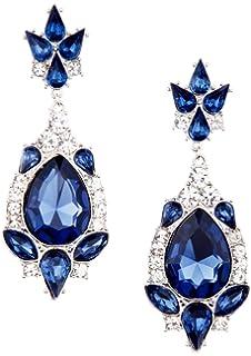 b762903eeaad Aroncent 1PCS Collar 2PCS Pendientes Swarovski Cristal Azul Juego de ...