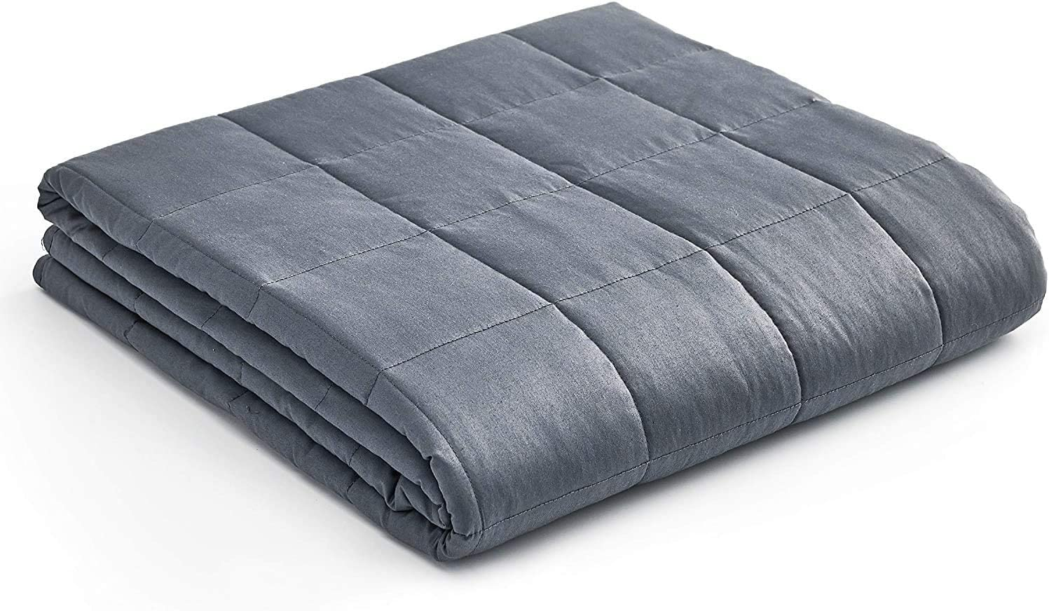 YnM Kids Weighted Blanket — Heavy 100% Oeko-Tex Certified Cotton Material with Premium Glass Beads (Dark Grey, 36''x48'' 5lbs), Suit for One Person(~40lb) Use on Twin Bed