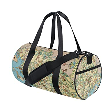 Amazon.com: Vintage 1935 Maine Estado mapa Travel Duffel ...