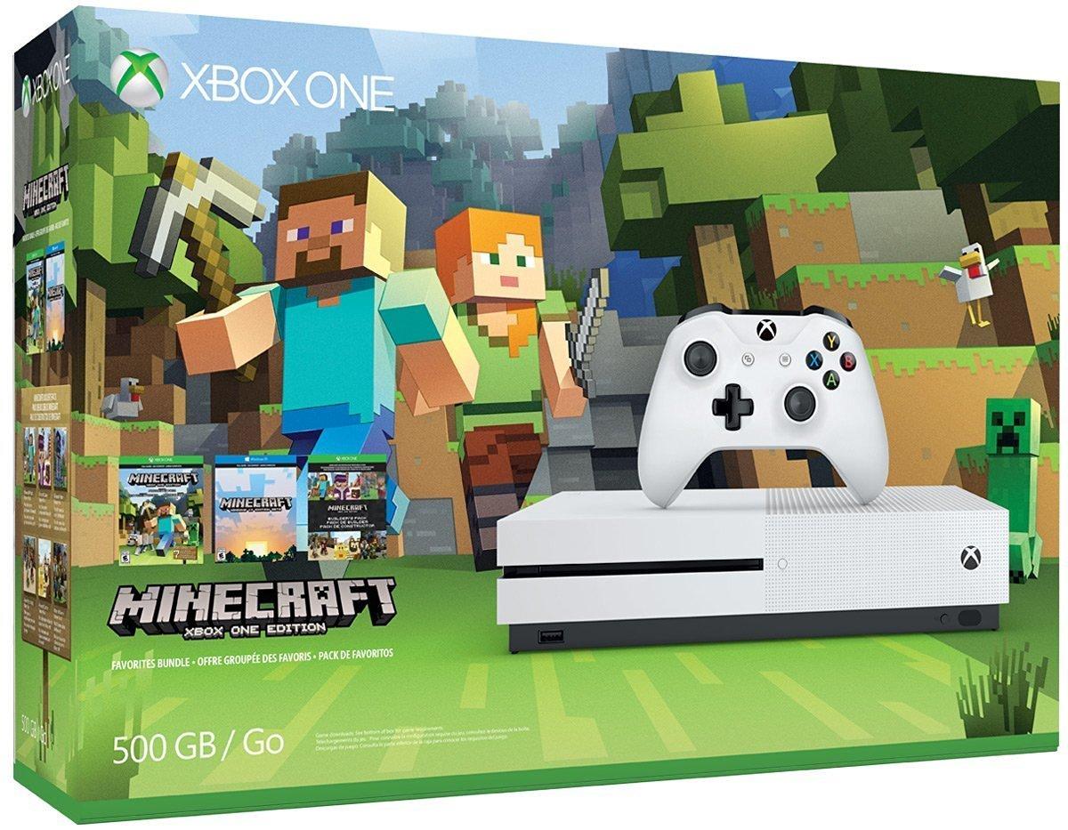Amazon.com: Xbox One S 9GB Console - Minecraft Bundle