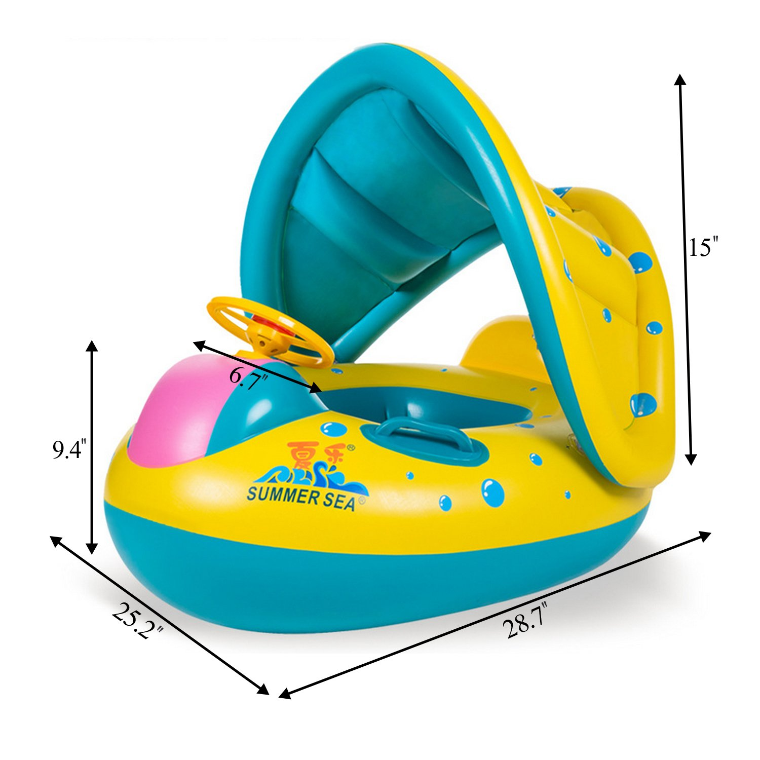 Inflatable Mother Baby Swim Float Ring Kids Seat Double Person Swimming Soft Ring Swimming Floating Circle Babyfloat Accessories More Discounts Surprises Toys & Hobbies