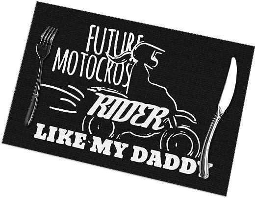 Future Motocross Rider Like Daddy Manteles Individuales para Mesa ...