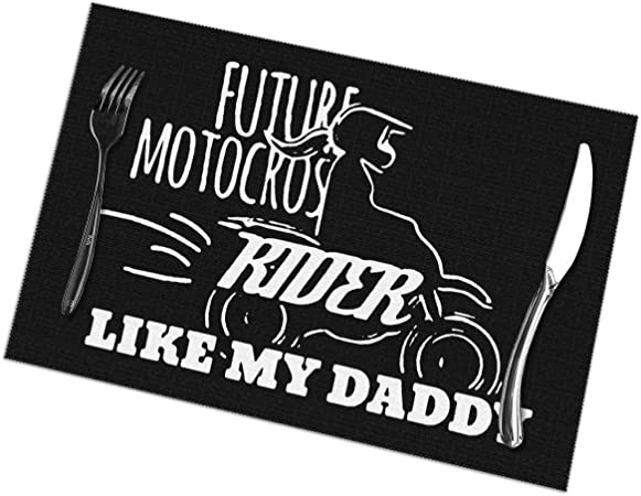 Future Motocross Rider Like Daddy Manteles Individuales para Mesa de Comedor Juego de 6 tapetes de Mesa de Cocina: Amazon.es: Hogar