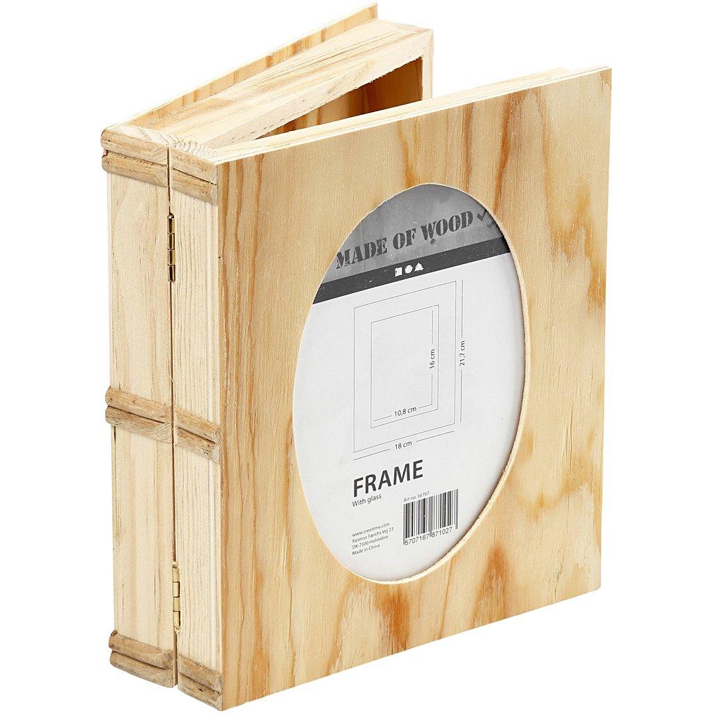 Caja Libro, medidas 21,7x18 cm, grosor 5,6 cm, madera contrachapada, 1ud, medida agujero 16x10,8: Amazon.es: Hogar