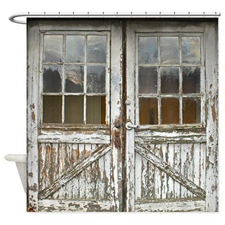 Amazon.com: CafePress - Old Vintage Wood Doors - Decorative Fabric ...