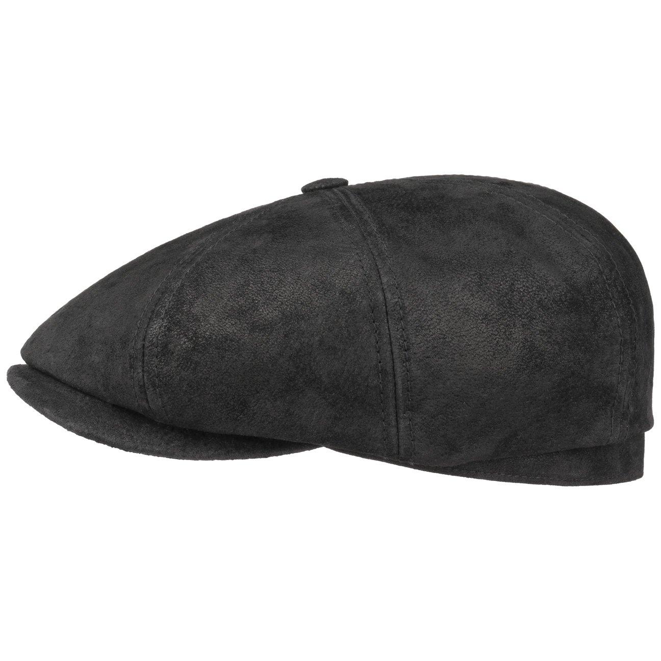 Stetson Hatteras Pigskin Flatcap für Herren Schirmmützen Ballonmütze Schiebermütze mit Schirm, Futter Winter Sommer