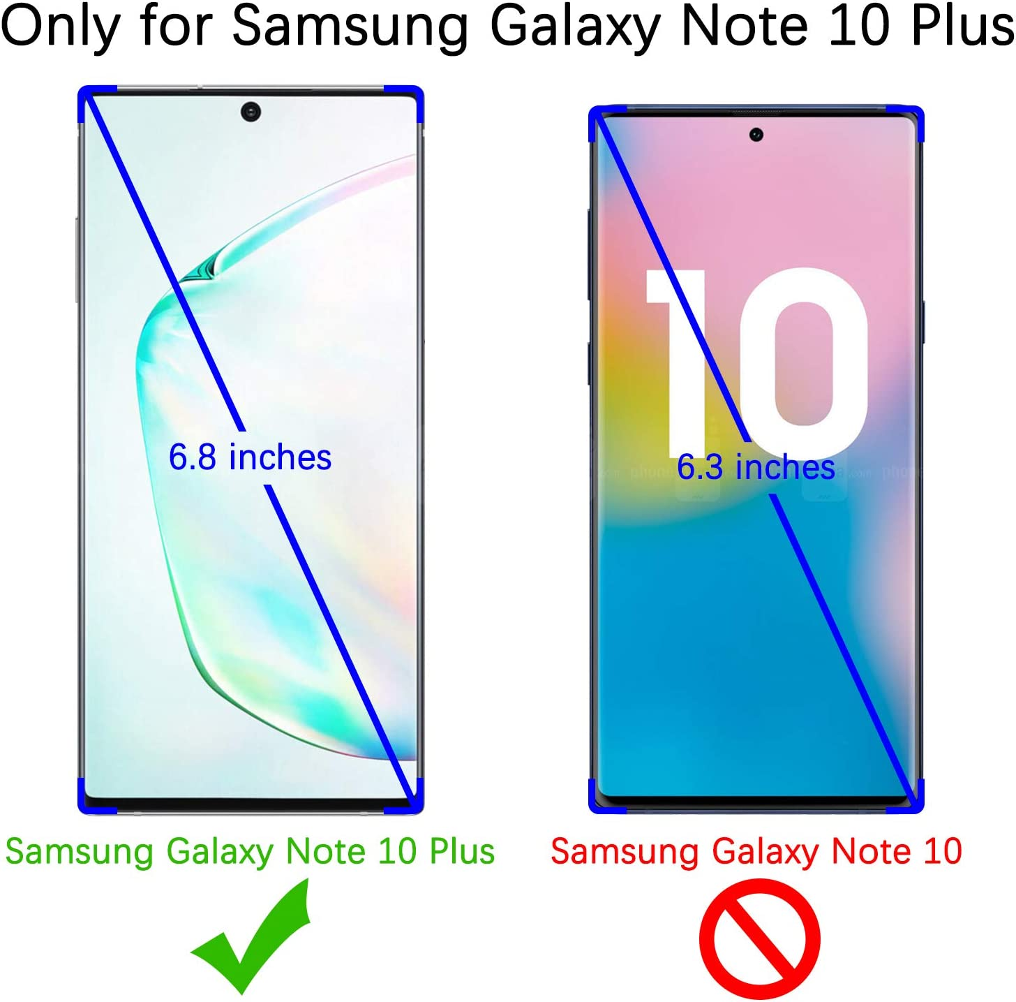 UniqueMe Screen Protector Compatible with Samsung Galaxy Note 10 Plus//Samsung Galaxy Note 10+ // Note 10 Plus 5G, 3 Pack Fingerprint Available TPU Film