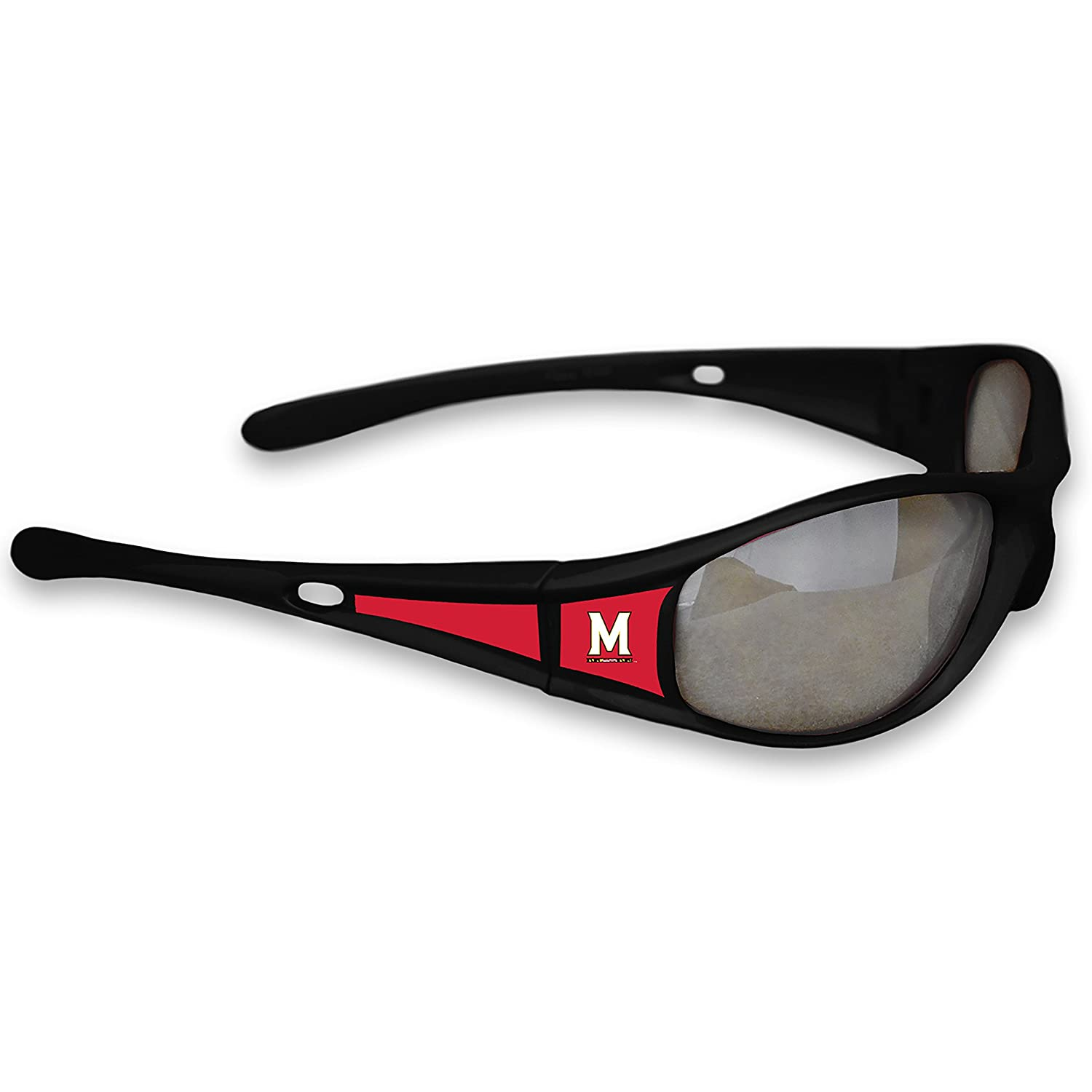 FTH Maryland Terrapins Black Sports Elite 3 Sunglasses with Logo