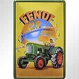 """Fendt International"" Reklame Motiv Blechschild Replik"