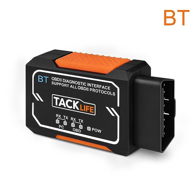 24 opinioni per OBDII Auto Diagnosi, Tacklife AOBD1B Bluetooth OBD2 / Car Reader codice errore