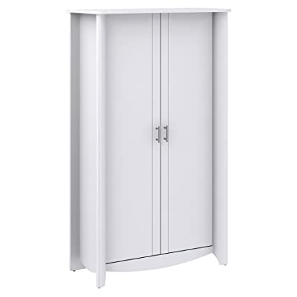 Amazon Bush Furniture Aero Tall Storage Cabinet With Doors In