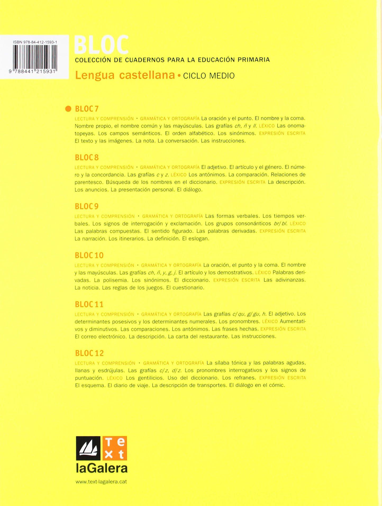 Bloc Lengua castellana 7: 9788441215931: Amazon.com: Books