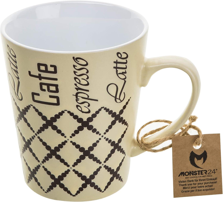 6 x Set XL Jumbo 400 ml Cappuccino Kaffeebecher Becher Keramik Kaffee Mug 31547