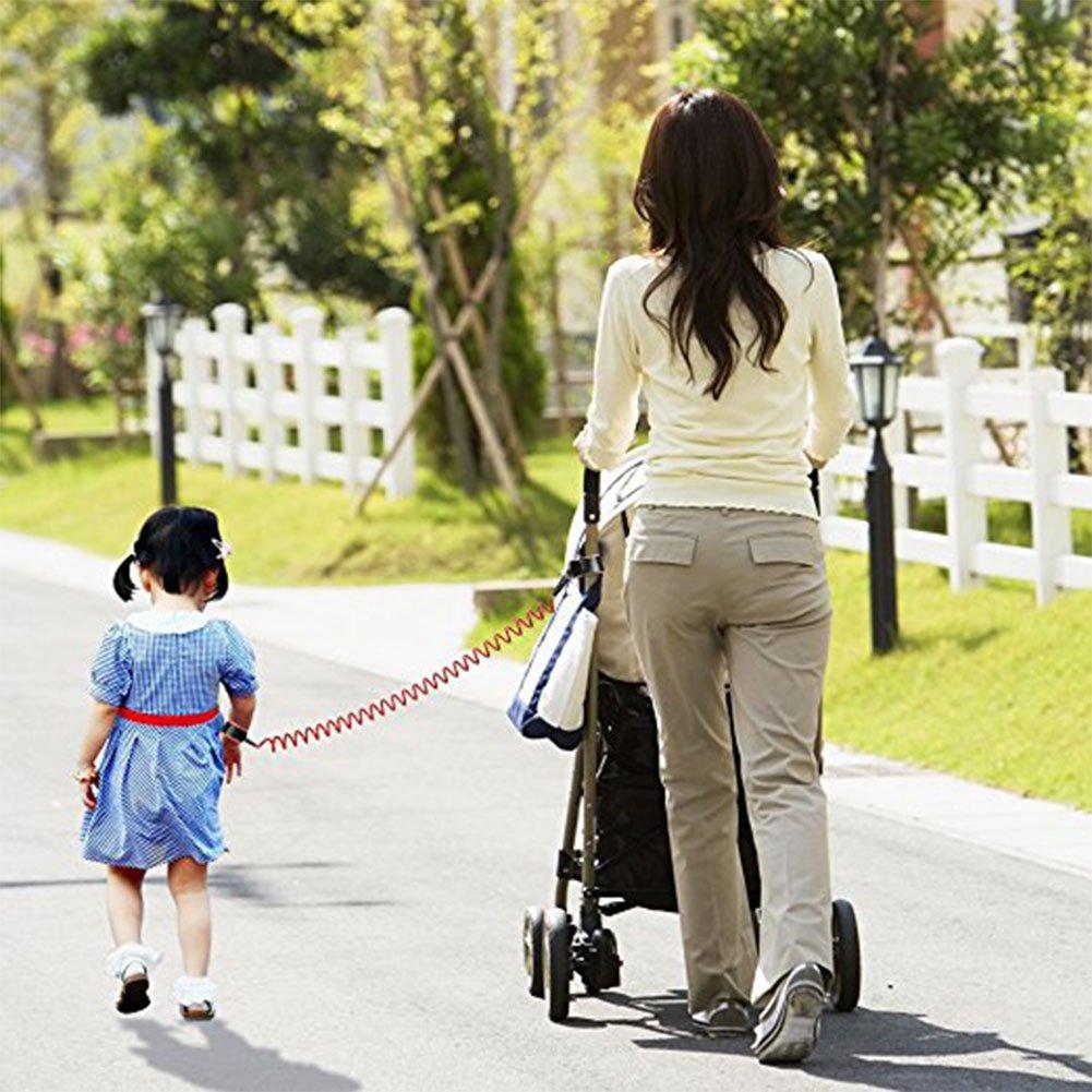 ni/ños correa de la cuerda del ni/ño Correa de la mano que camina Ali/á Ni/ños Seguridad Correa Anti-Lost Mu/ñeca Enlace Arn/és Correa Verde Pulsera de seguridad 1,5 m//2,5 m para el beb/é 2.5giratoria, naranja