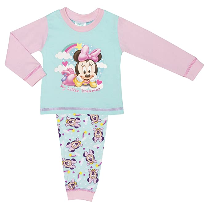 Disney Baby Official Girls Minnie Mouse Pyjamas Size 6-24 Months ...