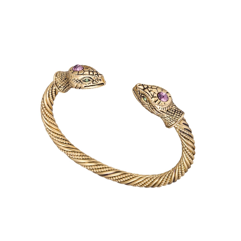 Jormungandr Vintage Snake Screw Indian Cuff Bangle Bracelet for Men and Women YI WU KE JI