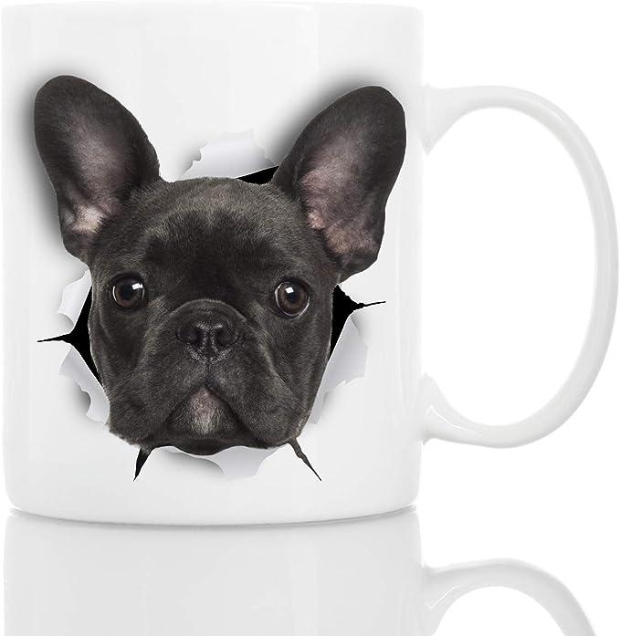 Black French Bulldog Mug Ceramic Funny Coffee Mug Perfect French Bulldog Gifts Cute Novelty Coffee Mug Present Great Birthday Or Christmas Surprise For Friend Or Coworker Men