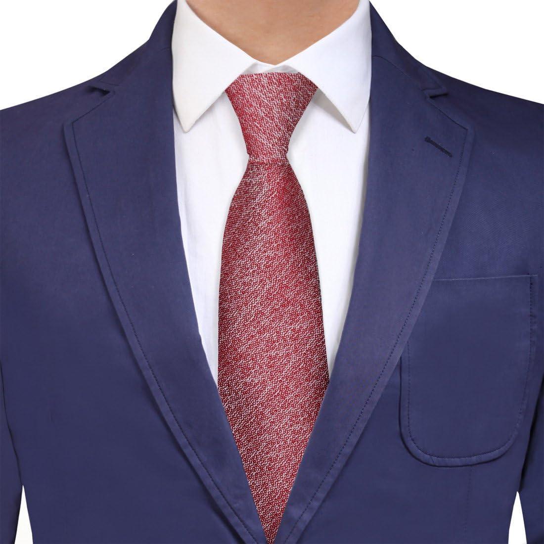Y&G YAQF0002 Hilo Rojo Fant¨¢stico Seda corbata perfecta ...